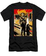 Female Soldier With Mexican Flag  Unknown Location C. 1914-2014 Men's T-Shirt (Athletic Fit)