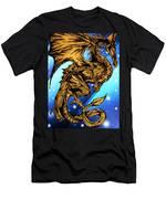 Gold Metal Dragon Men's T-Shirt (Athletic Fit)