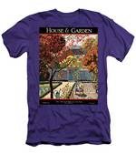 House And Garden Fall Planting Number Cover Men's T-Shirt (Athletic Fit)