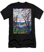 Stained Glass Tiffany Frank Memorial Window Men's T-Shirt (Athletic Fit)