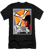 1939 German Luftwaffe Recruiting Poster - Color Men's T-Shirt (Athletic Fit)