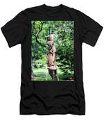 Lady At The Fountain Men's T-Shirt (Athletic Fit)