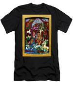 Lady Lion And Unicorn Men's T-Shirt (Athletic Fit)