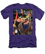 Fulnio Indians Of Brazil  Men's T-Shirt (Athletic Fit)