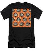 Seamlessly Tiled Kaleidoscopic Mosaic Pattern Men's T-Shirt (Athletic Fit)