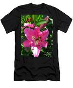 Dwarf Oriental Lily Named Farolito Men's T-Shirt (Athletic Fit)