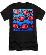 9 Happy Fish Men's T-Shirt (Athletic Fit)