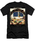 A House And Garden Cover Of A Four-poster Bed Men's T-Shirt (Athletic Fit)