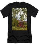 A Peak Of Fall Red Barn Men's T-Shirt (Athletic Fit)