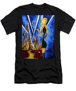 A Toast To The Little Black Dress By Madart Men's T-Shirt (Athletic Fit)