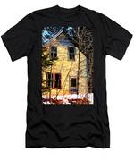 Abandoned Yellow House Men's T-Shirt (Athletic Fit)