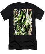 Abstraction Green And White Men's T-Shirt (Athletic Fit)