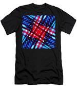 American Flag Kaleidoscope Men's T-Shirt (Athletic Fit)