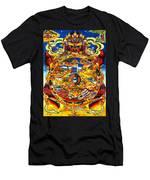 Ancient Tibetan Tangka Wheel Of Life Men's T-Shirt (Athletic Fit)