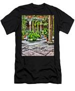 Andalusian Courtyard In Sevilla Spain Men's T-Shirt (Athletic Fit)