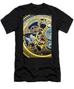 Antique Pocket Watch Gears Men's T-Shirt (Athletic Fit)
