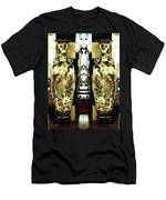 Antique Vases In The Interior Oil Painting On Canvas Men's T-Shirt (Athletic Fit)