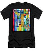 Art Deco Stained Glass 1 Men's T-Shirt (Athletic Fit)