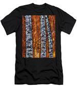 White Trees  Original Oil Painting  Men's T-Shirt (Athletic Fit)