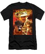 Australian Cattle Dog Art Canvas Print - Indiana Jones Movie Poster Men's T-Shirt (Athletic Fit)