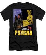 Beauceron Art Canvas Print - Psycho Movie Poster Men's T-Shirt (Athletic Fit)