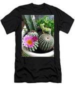 Beautiful Blooming Cactuses Men's T-Shirt (Athletic Fit)