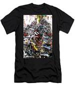 Bicycles In Amsterdam Men's T-Shirt (Athletic Fit)