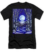 Birches With Shining Water Men's T-Shirt (Athletic Fit)