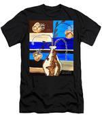 Blue Buds Multi Floral Men's T-Shirt (Athletic Fit)