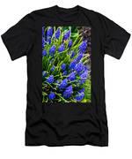 Blue Grape Hyacinth Men's T-Shirt (Athletic Fit)
