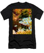 Blue Lily Water Garden Men's T-Shirt (Athletic Fit)