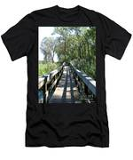 Boardwalk At Tifft Nature Preserve Buffalo New York Men's T-Shirt (Athletic Fit)