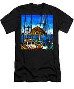 Boats Of Morro Bay Men's T-Shirt (Athletic Fit)