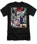 Boston Terrier Watercolor Collage Men's T-Shirt (Athletic Fit)