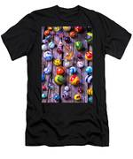 Bright Colorful Marbles Men's T-Shirt (Athletic Fit)