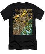 Brittlebush On Borrego Palm Canyon Trail In Anza-borrego Desert Sp-ca Men's T-Shirt (Athletic Fit)