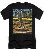 Bronze Girl At Woodward Park Men's T-Shirt (Athletic Fit)