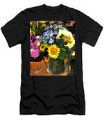 Bucket Of Flowers Men's T-Shirt (Athletic Fit)