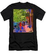 Buk And Nola Gift Shop Decor Boutique Rue Laurier Art Of Montreal Street Scene Carole Spandau Men's T-Shirt (Athletic Fit)