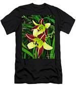 Burgundy And Yellow Lilies 2 Men's T-Shirt (Athletic Fit)