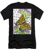 Butterfly And Thistles Men's T-Shirt (Athletic Fit)