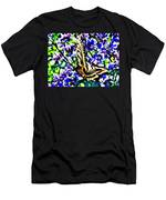 Butterfly With Purple Flowers 4 Men's T-Shirt (Athletic Fit)