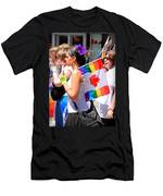 Canadian Rainbow Men's T-Shirt (Athletic Fit)
