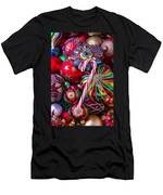 Candy Canes And Colorful Ornaments Men's T-Shirt (Athletic Fit)