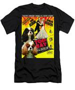 Cavalier King Charles Spaniel Art - Top Hat Movie Poster Men's T-Shirt (Athletic Fit)