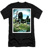 Cematary With Lemon Tree Men's T-Shirt (Athletic Fit)