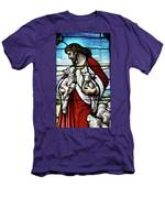 Christ The Good Shepherd With His Flock Men's T-Shirt (Athletic Fit)