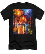 Christmas Emotions - Palette Knife Oil Painting On Canvas By Leonid Afremov Men's T-Shirt (Athletic Fit)