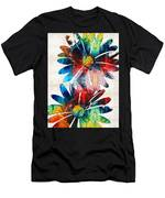 Colorful Daisy Art - Hip Daisies - By Sharon Cummings Men's T-Shirt (Athletic Fit)