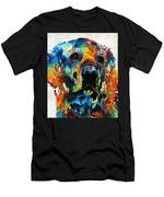 Colorful Dog Art - Heart And Soul - By Sharon Cummings Men's T-Shirt (Athletic Fit)